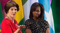 michelle obama and laura bush