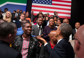 obama south africa town hall