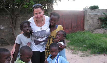 white woman in gambia