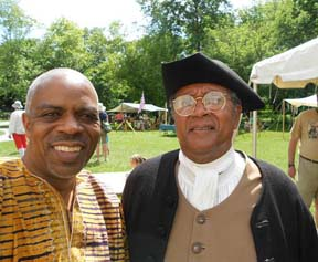 wayne young with benjamin banneker