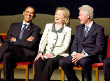 barack obama, hillary clinton, bill clinton