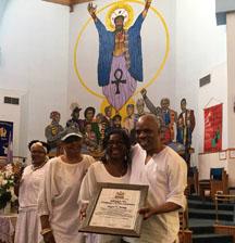 wayne young receives an award